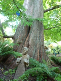 Tree with Monk statue