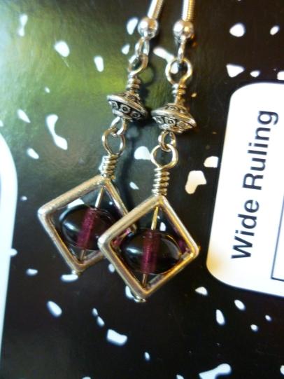 Silver and Purple earrings