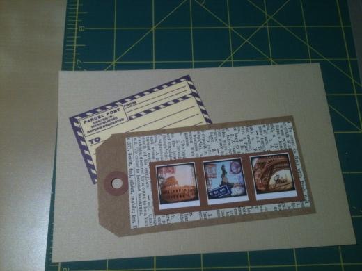 Tan card - Paris series