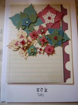 Christmas Card series - Flower collage