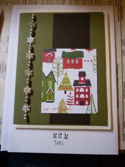 Christmas Card series - Houses with snowflake accent