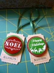 Christmas Tag series - Noel and Season's Greetings