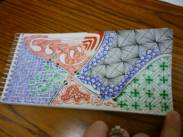 Zentangle with 4 Colors