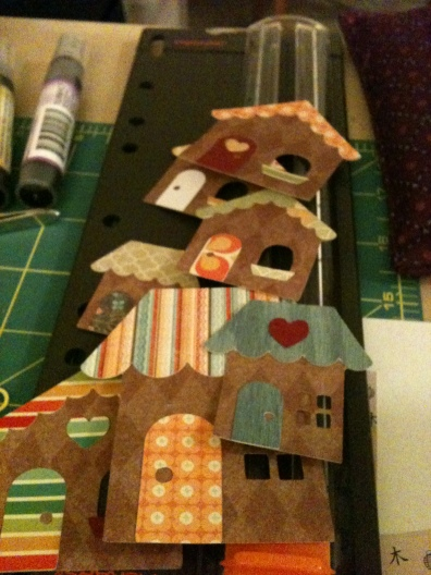 Paper Craft Cricut Houses