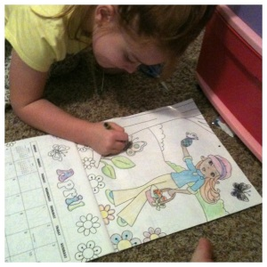 Kids Craft. Collaborative Coloring