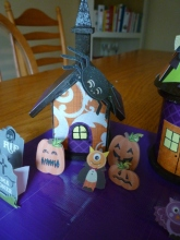 Decoration. Spooky Village Finished House 1