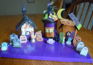 Decoration. Spooky Village Finished
