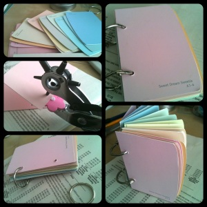 Paper Craft. Paint Chip Notebook