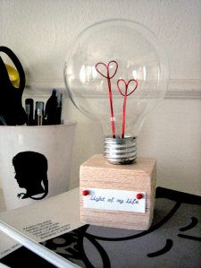 Valentine Lightbulb by designsponge