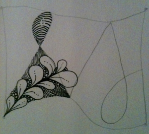Zentangle 101. Step 3b