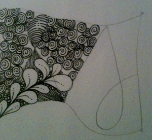 Zentangle 101. Step 3c