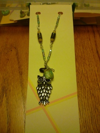 Packaging. Necklace on File Folder with Washi accent