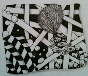 Zentangle. Shaded