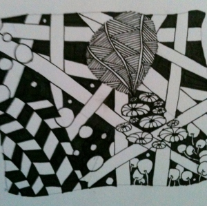 Zentangle. Unshaded