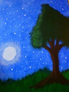 Bubble Tree. Night