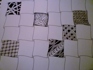 Zentangle. Sampler process