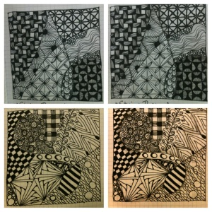 Zentangle. shading 2