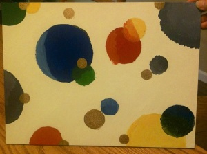 Circles Painting in Process