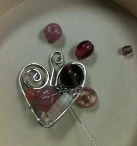 Jewlery. Heart pendant
