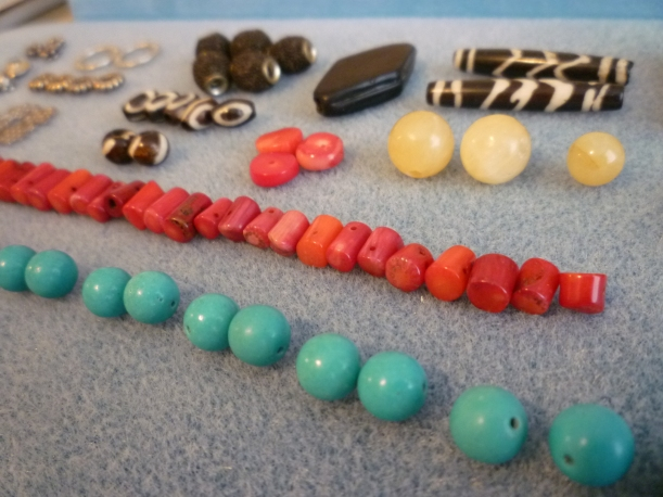Landscape of beads