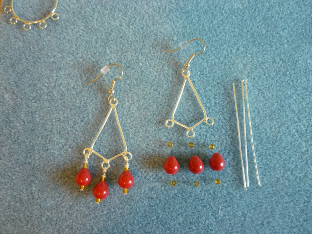 Jewelry. Red Frame Earrings
