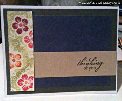 Watercolor card pansy