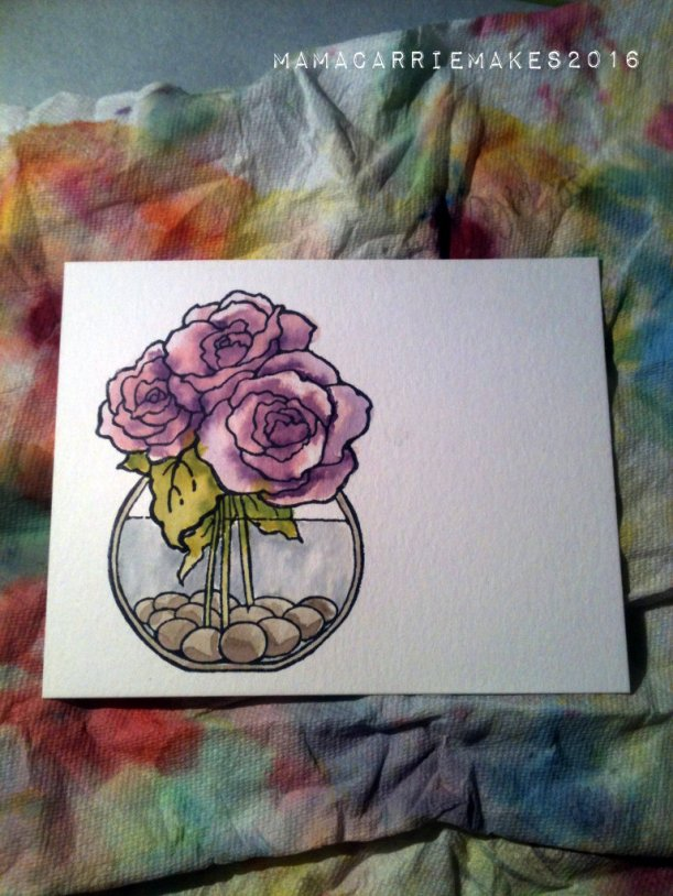 Purple Watercolor Roses