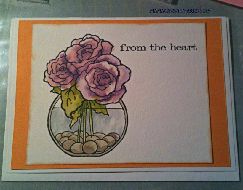 Purple Watercolor Roses