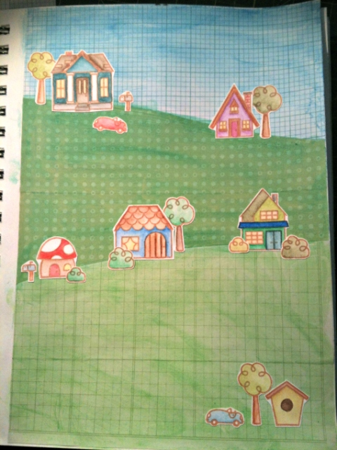 ArtJournal_BittyBungalowsLandscape