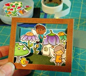 3D Fairy box card